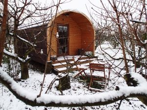 Our Early River Pod in the snow