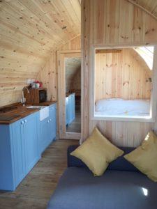Inside Little Acre Pod